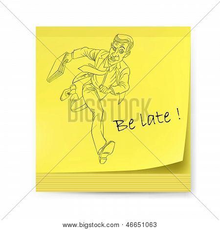 Adhesivo amarillo