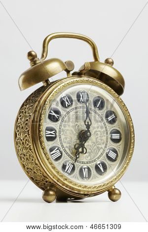 Old Antique Brass Alarm Clock
