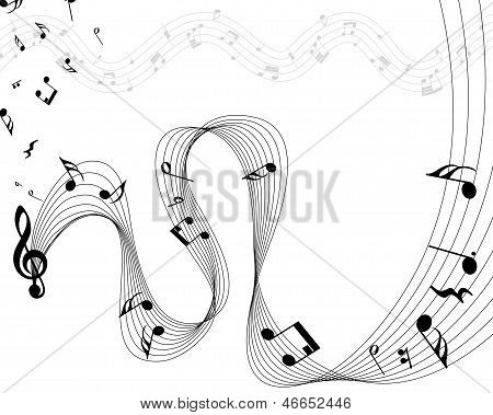 Musical Note Staff