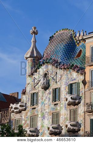 BARCELONA SPAIN - 11 MAY 2010: Casa Batllo on MAY 2010 a famous tourist destination restored by cata