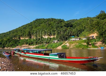 Boats in Laos