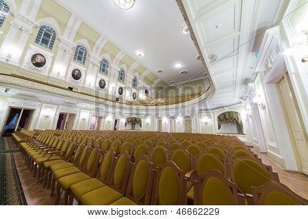 MOSCOW - OCT 4: Hall of the Moscow Tchaikovsky Conservatory (view form scene) on October 4, 2012 in Moscow, Russia.