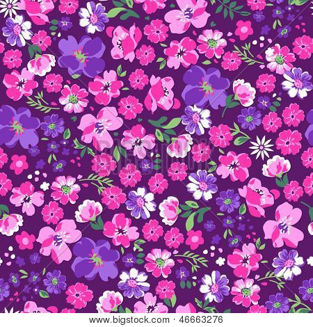 pretty in pink floral seamless background