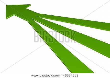 3D Arrows - Green
