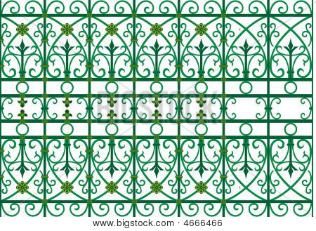 Metal Scoop Grating Fence