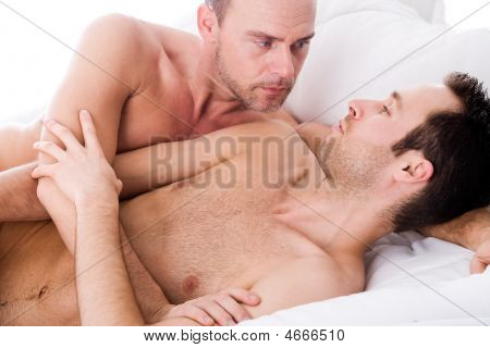 Hugging Men Couple