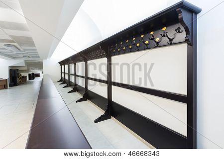 An elegant wardrobe in a light big hall