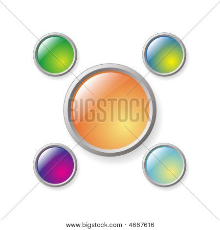 Series Of Buttons