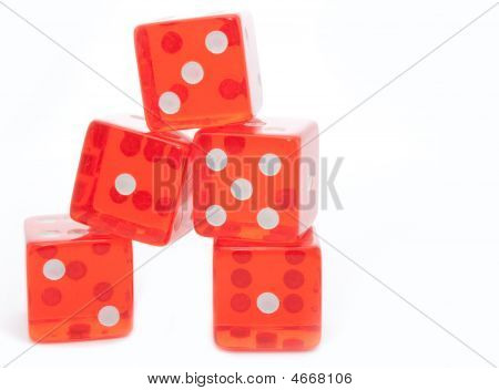 Dice Stack On White