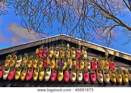Wooden Shoe Display