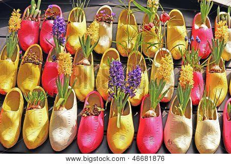 Wooden Shoe Planters