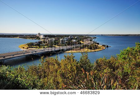 Day time image of South Perth from King's Park