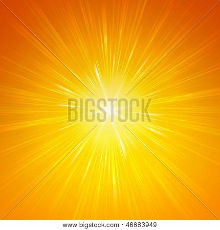 Leuchtende gelbe Lichter