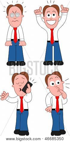 Cartoon Businessman Set