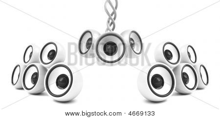 White Stylish Modern Audio System