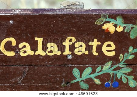 Calafate Sign