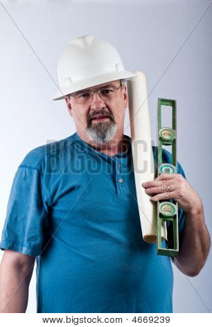 Construction Worker With Some Tools