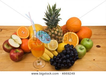 Fresh Fruits And Juice