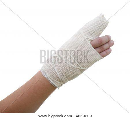 Bandaged Broken Finger