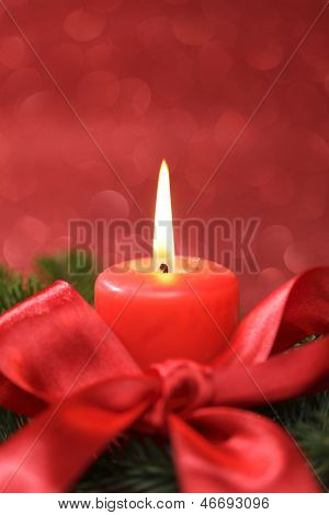 decoration with red candle