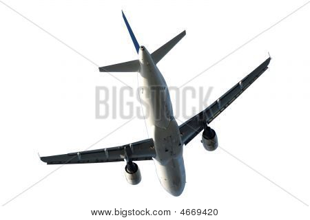 Plane On White Background
