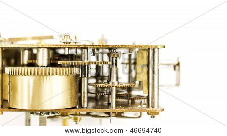 Inner Workings Of A Grandfather Clock Movement