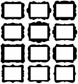 Vector Set of Frame Silhouettes in with 8.5
