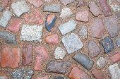 Medieval Granite Cobble Stone Road Background poster