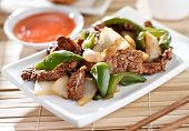 pic of buffet lunch  - Chinese food  - JPG
