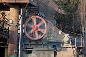 pic of crusher  - Running stone crusher at the stone quarry - JPG