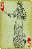 pic of mesopotamia  - Playing card with the drawn figure - JPG