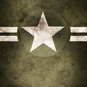 image of army cadets  - Grunge design of a military army star background with cadet copyspace - JPG