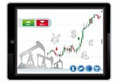 pic of scalping  - trading application for tablet on a white background - JPG