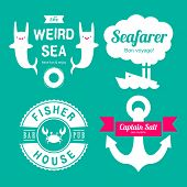 pic of blue crab  - Sea theme labels - JPG