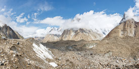 picture of skardu  - Baltoro Glacier Panorama in the Karakorum Mountains Pakistan - JPG