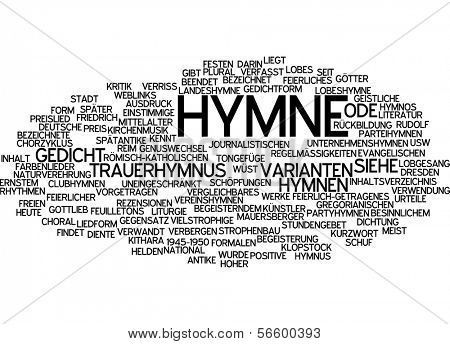 Word cloud -  Hymn