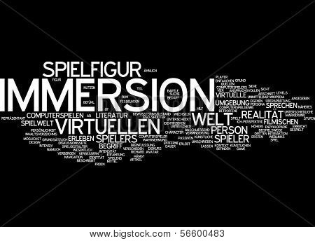 Word cloud -  Immersion