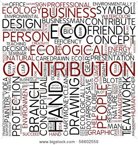 Word cloud - contribution