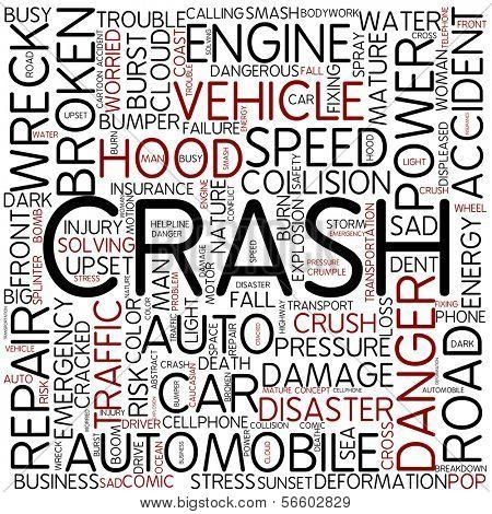 Word cloud - crash