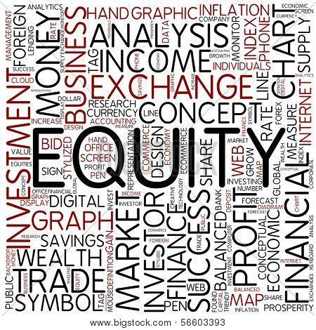 Word cloud - equity