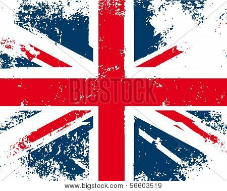 British flag grunge. Vector
