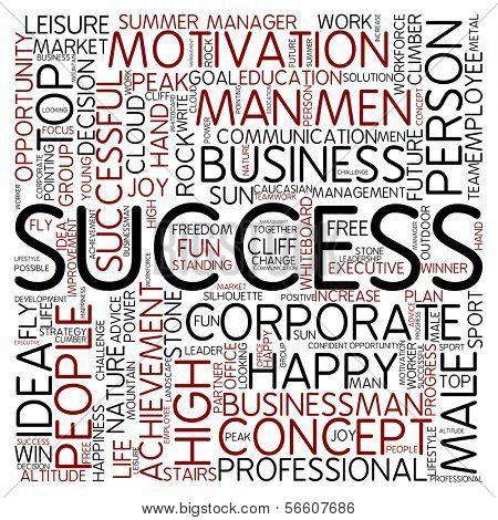 Word cloud - success