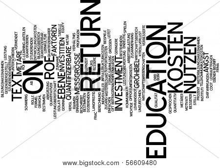 Word cloud - return to education