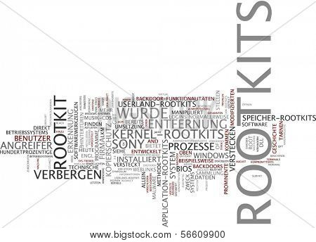 Word cloud - rootkit