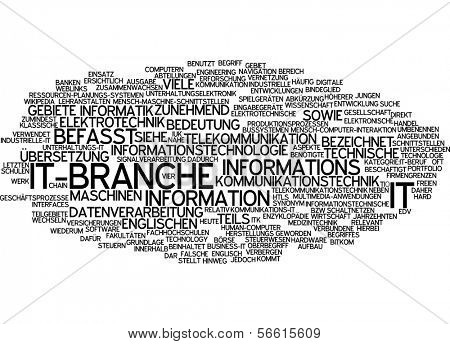 Word cloud -  IT department