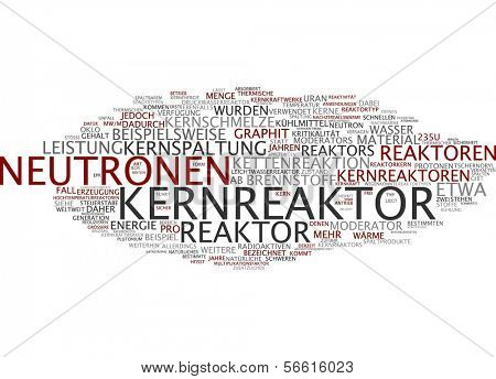Word cloud -  nuclear reactor