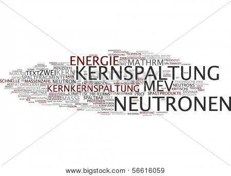 Word cloud -  nuclear fission