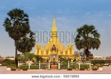 LAOS, VIENTIANE - NOVEMBER 2013: Pha That Luang stupa NOVEMBER 2013 in Vientiane