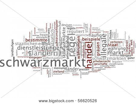 Word cloud - black market