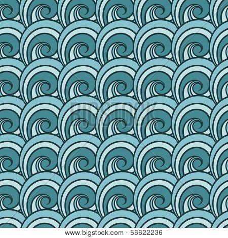 Seamless wave pattern.